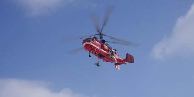 Вертолеты МАЦ начнут мониторинг пожароопасной обстановки в Москве с 1 мая. Фото: Е. Самарин mos.ru