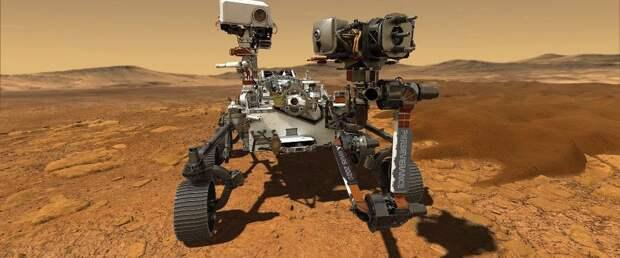 Ровер Perseverance впервые проехал по поверхности Марса