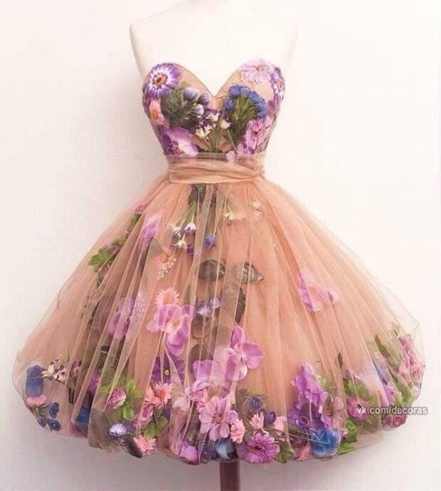 Цветочное платье на свадьбу сестры