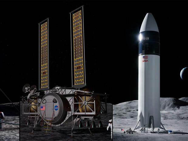 SpaceX выиграла конкурс NASA на создание корабля для доставки астронавтов на Луну