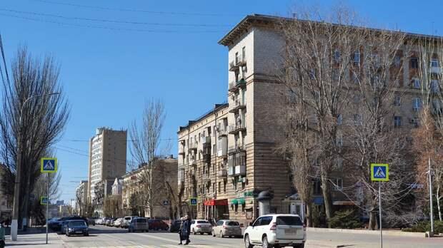 Улица Советская в городе Волгограде. Современный вид.