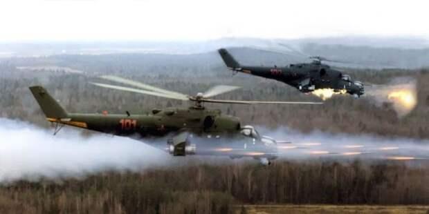 Российские боевые вертолеты переброшены изСибири вТаджикистан