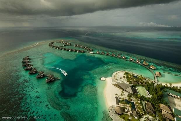 Мальдивы свысоты птичьего полета