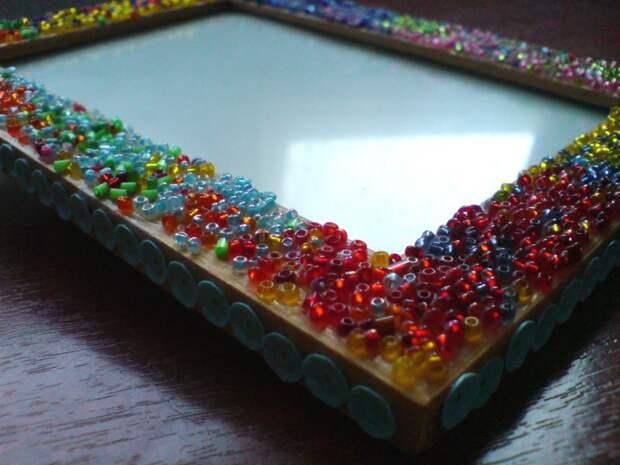 Куда пристроить остатки разноцветного бисера