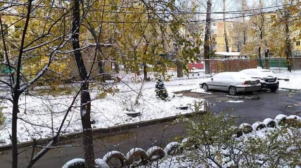 Первый снег выпал в Хабаровске
