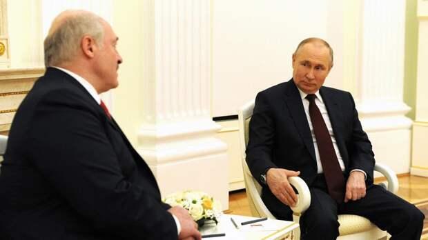 Путин и Лукашенко не обсуждали вопрос о военной базе РФ в Белоруссии