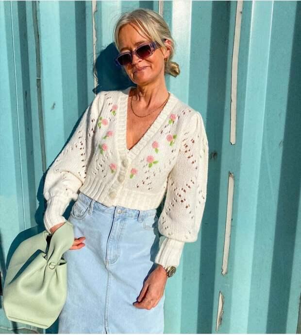 Короткий кардиган в моде: какой выбрать женщинам до и после 50-ти, чтобы выглядеть стильно
