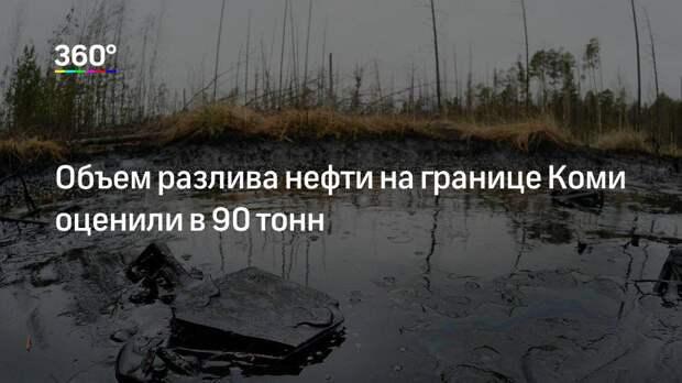 Объем разлива нефти на границе Коми оценили в 90 тонн
