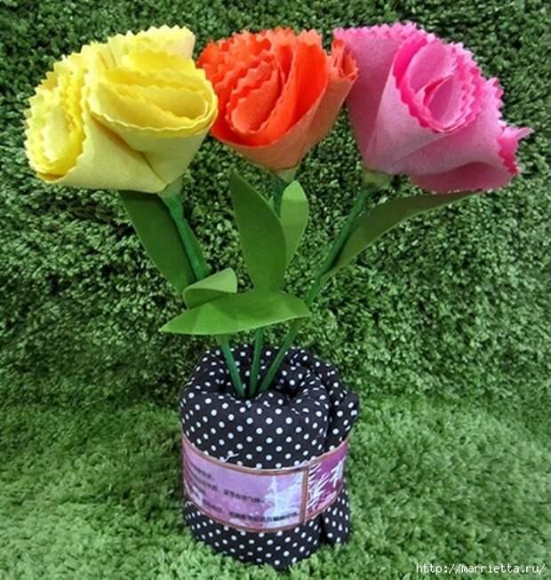 Ручная работа. Цветы из ткани (90) (513x541, 262Kb)