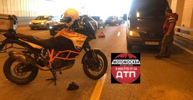 На ТТК мотоциклист спровоцировал аварию с тремя машинами