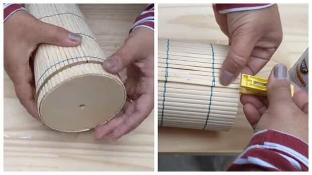 Полезное, экологичное и уютное изделие для дома из бамбуковых салфеток