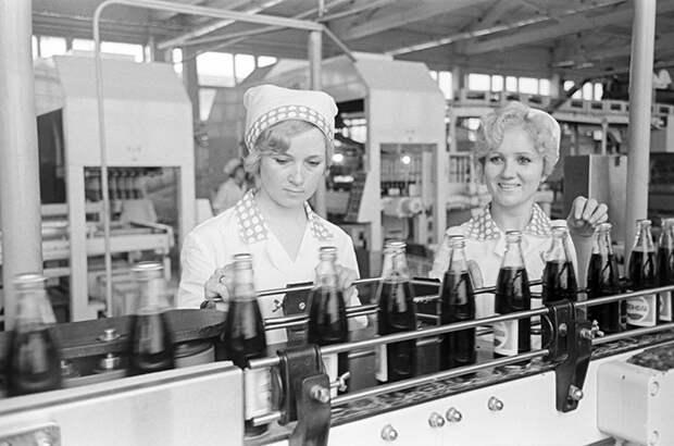 Завод Pepsi в Советском Союзе.