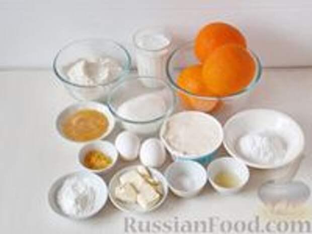 Фото приготовления рецепта: Медовик апельсиновый - шаг №1
