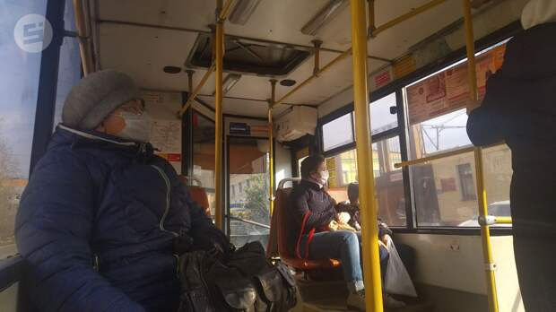 В общественном транспорте Ижевска нашли нарушения ковид-безопасности