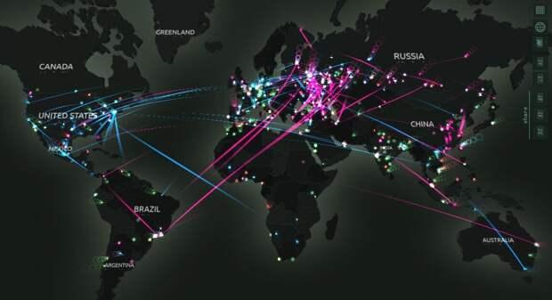 География кибератак (по данным Лаборатории Касперского)