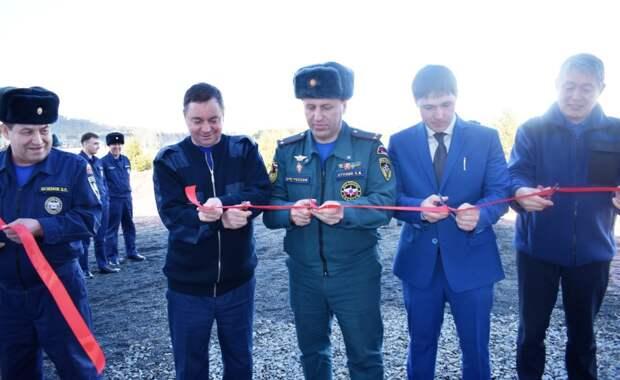 Здание пожарного депо открыли в Усть-Илимском районе