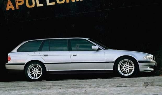 BMW 740i Touring авто, автодизайн, автомобили, дизайн, фотомонтаж, фотошоп, юмор, янгтаймер