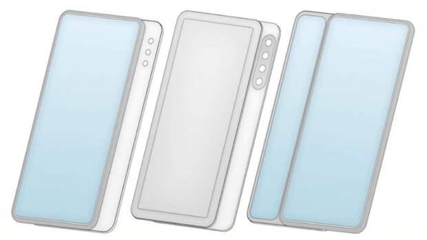 Xiaomi запатентовала три новых варианта смартфона-слайдера