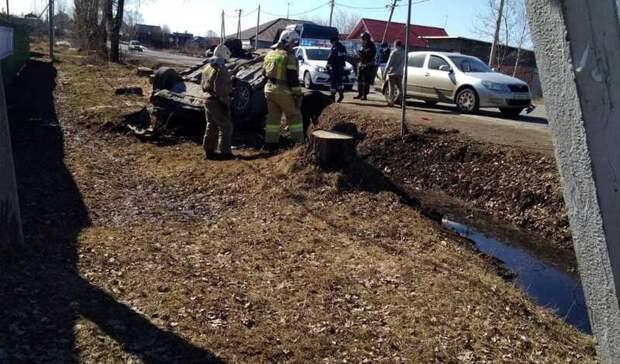 Пассажир травмировался вперевернувшейся машине вселе Покровское под Нижним Тагилом