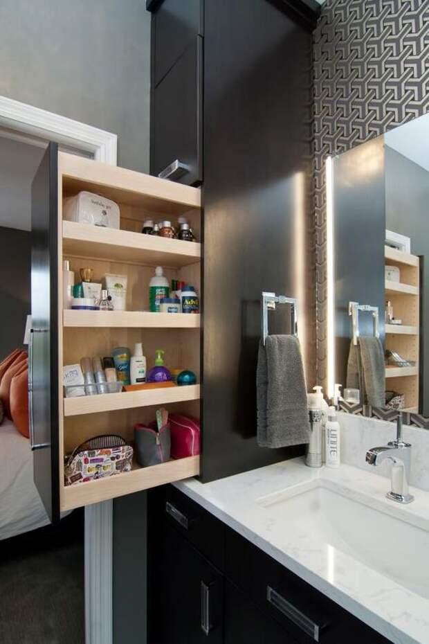 хранение в ванной комнате