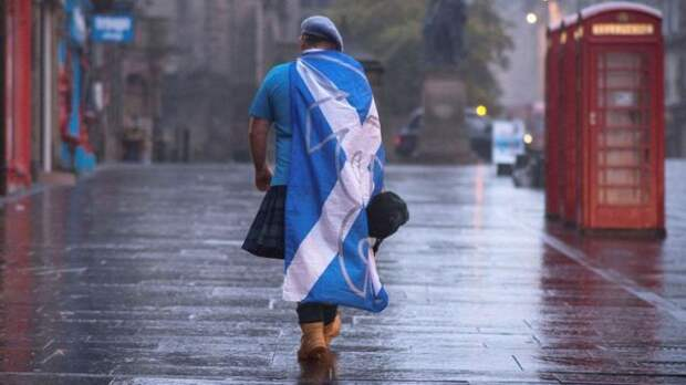 Сторонник независимости Шотландии после референдума 2014 года