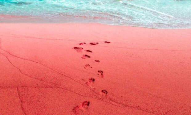 Красный пляж в Иране: видео берега словно с другой планеты