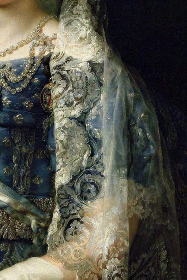 Тончайшие кружева в живописи старых мастеров.