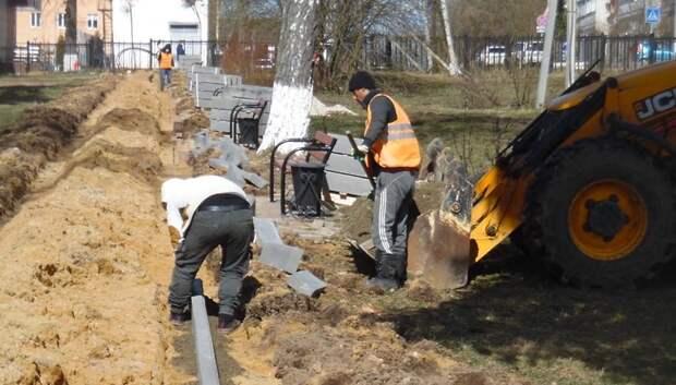 Территорию парка Победы начали благоустраивать в поселке Кузнечики