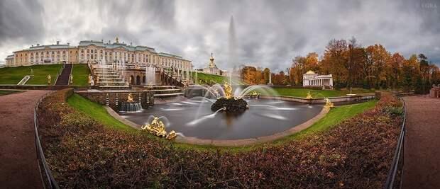 Фотопрогулка по осенниму Петергофу.