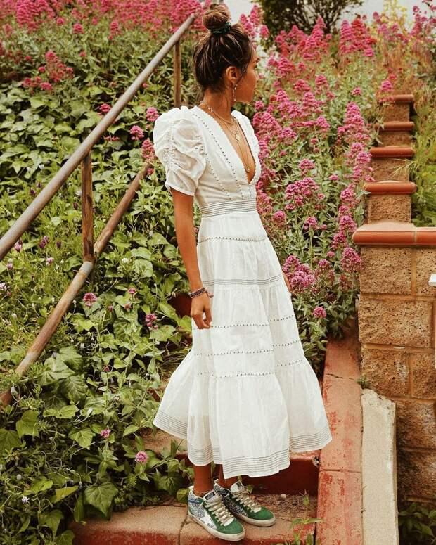 Вопрос стилисту: какие платья лучше всего сочетаются с обувью без каблука