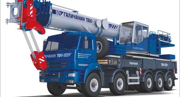 Автокран «Галичанин», грузоподъёмностью 50 тонн, передвигается без спецразрешений и демонтажа узлов