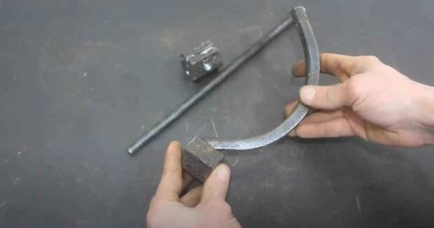 Самодельное приспособление для натягивания стального тросика и проволоки