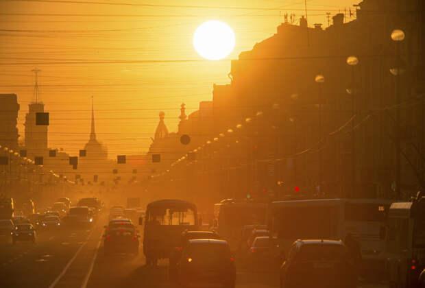 В воскресенье Петербург попадет под влияние гребня скандинавского антициклона