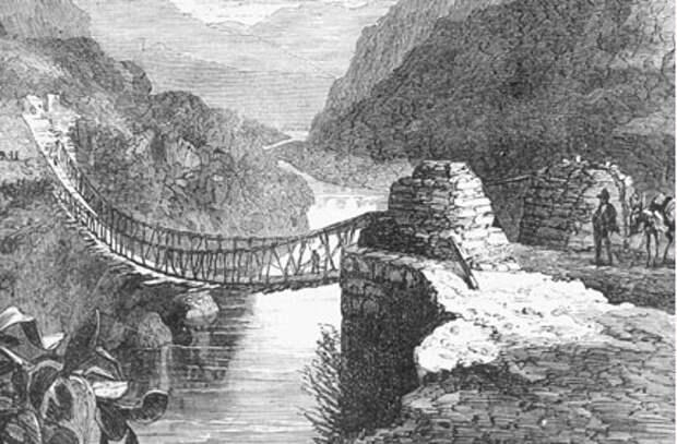 Мост, висящий над рекой Пампас. Перу. Изображение взято с официального форума ЛАИ: https://laiforum.ru/viewtopic.php?f=64&t=4078