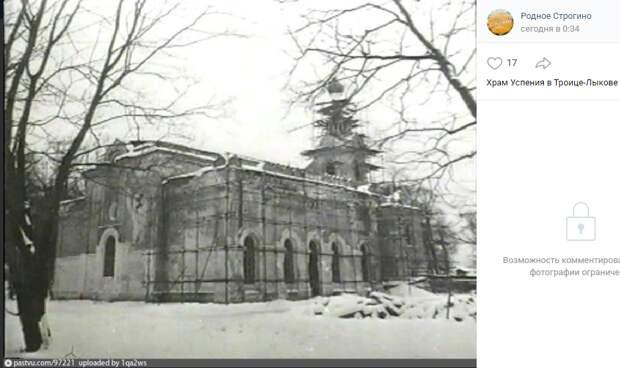 Фото дня: реставрация храма Успения в Строгине