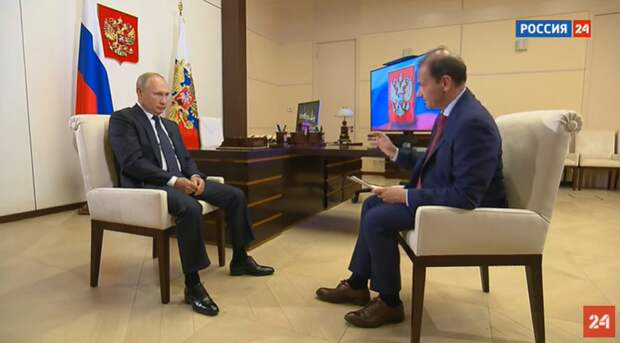Владимир Путин дал интервью телеканалу Россия-24