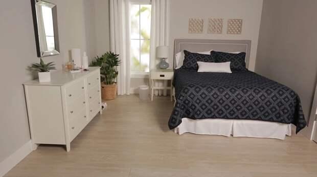Эффектиный способ быстрой уборки спальни