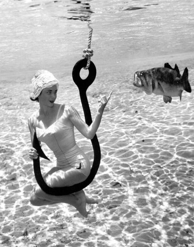 2. Вскоре Брюс Мозерт стал главным фотографом курорта Силвер-Спрингс и снимал потом 45 лет.