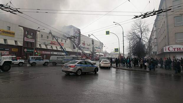 Случаи крупных пожаров в торговых центрах в России в 2017-2018 годах