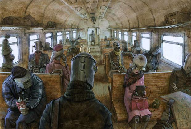 Недетские рисунки этого русского художника весьма неоднозначны