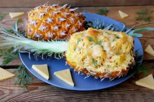 Ананасы с сыром в духовке