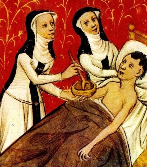 Даже когда женщин вытеснили изо всех профессий, почти любую она могла освоить в монастыре. Например, кузнечное или строительное дело. Или - чаще всего - медицину и фармацевтику.