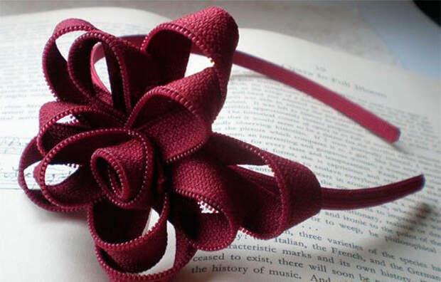 Великолепные цветы из молнии: Мастер-класс