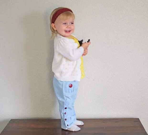Картинка шьем детские штанишки, подробный мастер-класс