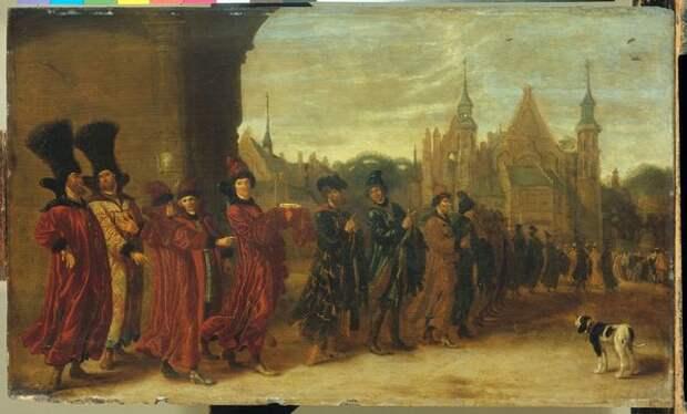 Сибранд ван Беестэ «Приезд посольства царя Московии на заседание представителей Штатов в Гааге, 4 ноября 1631»