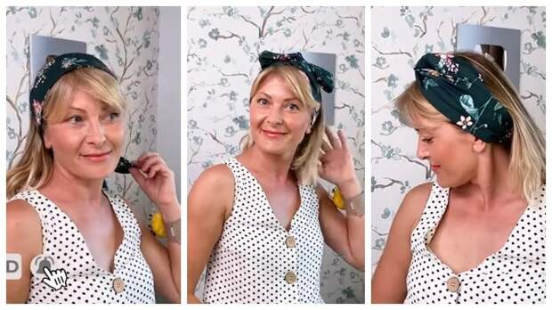 Стильная и удобная повязка на голову: каждый раз носите ее по-новому