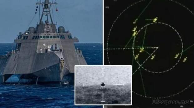 Группа НЛО преследовала корабль ВМС США