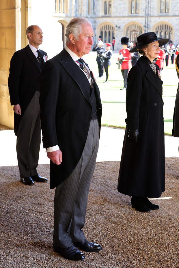 Принцы Эдвард и Чарльз и принцесса Анна