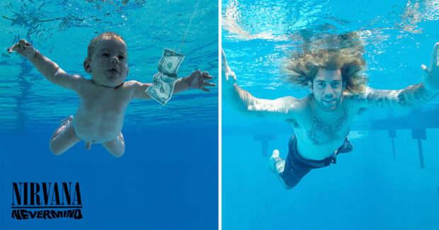 Герой обложки Nevermind группы Nirvana воссоздал ее к 25-летию альбома