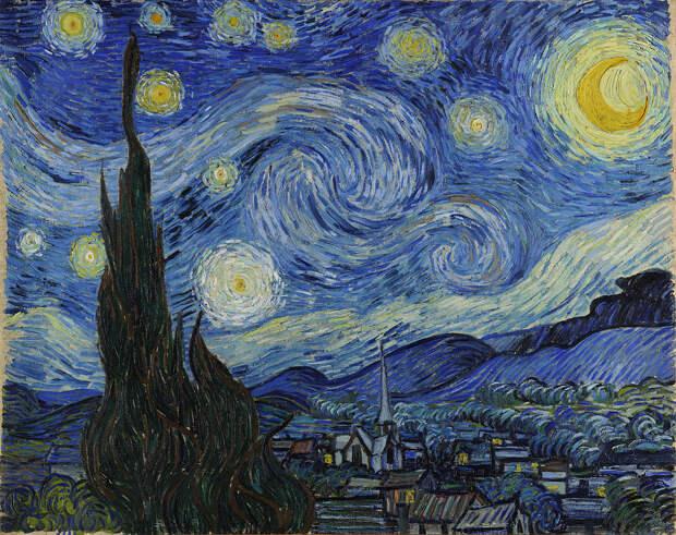 Винсент ван Гог «Звёздная ночь» 1889Хранится в Музее современного искусства в Нью-Йорке.
